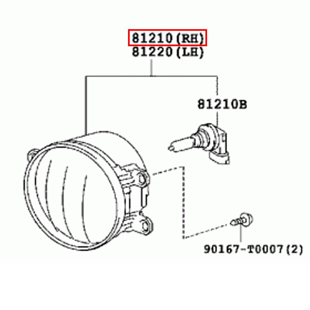 Genuine Part Toyota Yaris Car Engine Fog Lamp Assy RH 81210-0D111 | eBay