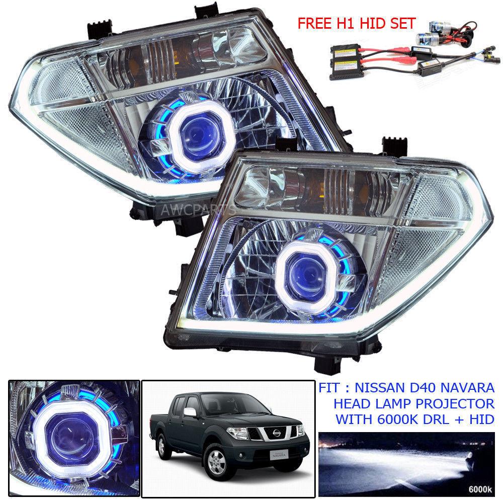For 06 Nissan D40 Navara Frontier Head Lamp Light Led