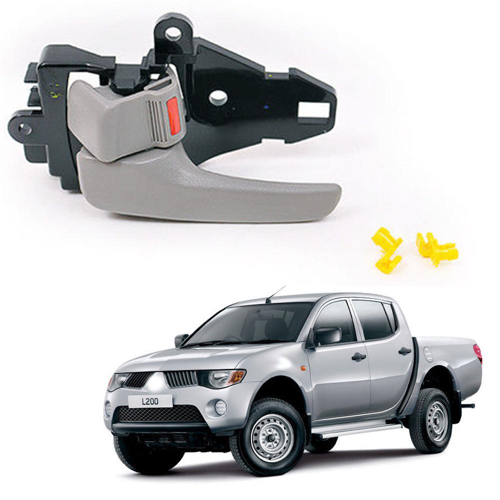 Inner Door Handle For Mitsubishi Triton L200 2007 2015 Grey Left
